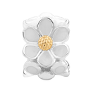 Enamel, 10kt Yellow Gold & Sterling Silver Daisy Charm