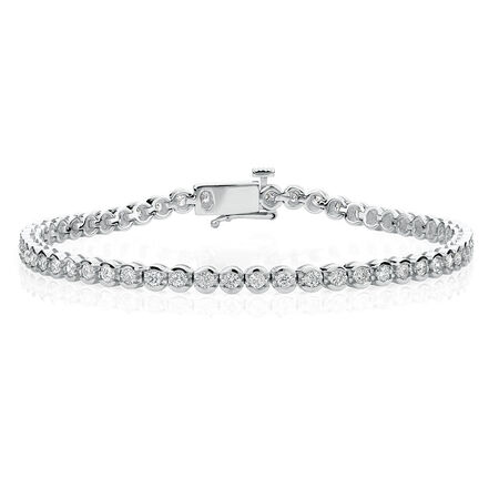 Tennis Bracelet with 2 Carat TW of Diamonds in 14kt White Gold