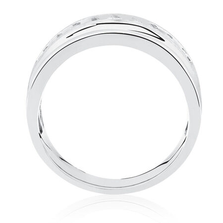 Men's Ring with 1/2 Carat TW of Diamonds in 10kt White Gold