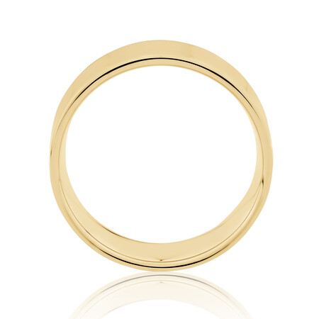 Flat Wedding Band in 10kt Yellow Gold
