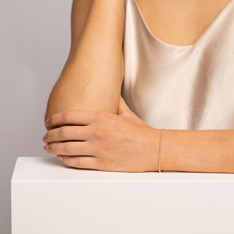 """21cm (8"""") Hollow Belcher Bracelet in 10kt Yellow Gold"""