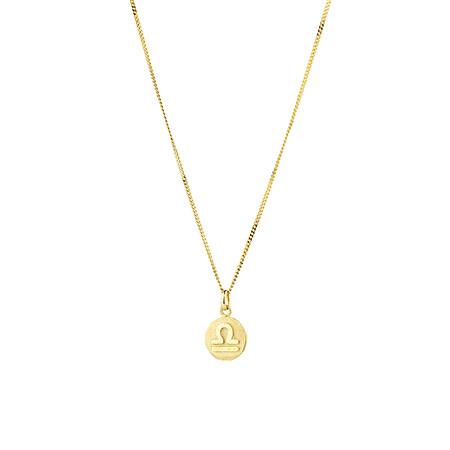Libra Zodiac Pendant in 10kt Yellow Gold