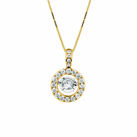 Everlight Pendant with 1/2 Carat TW of Diamonds in 14kt Yellow Gold