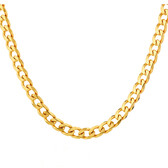 """60cm (24"""") Solid Curb Chain in 10kt Yellow Gold"""