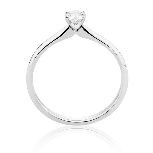 Online Exclusive - Certified Solitaire Engagement Ring with a 1/4 Carat TW Diamond in 18kt White Gold