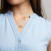 Bubble Infinity Pendant in 10kt Yellow Gold