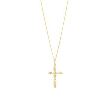 Twist Cross Pendant in 10kt Yellow Gold