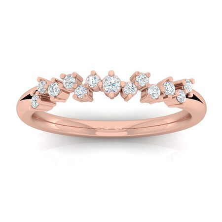 Ring with 1/4 Carat TW of Diamonds in 10kt Rose Gold