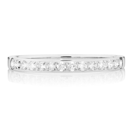 Wedding Band with 1/4 Carat TW of Diamonds in 14kt White Gold