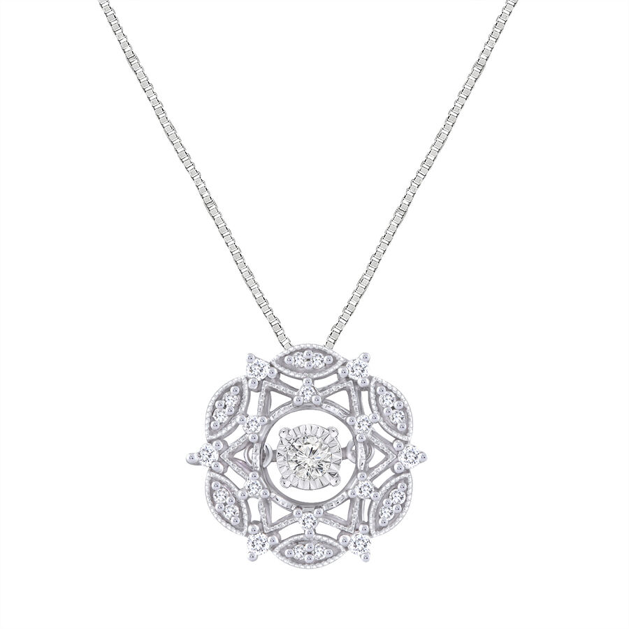 Everlight Pendant With 1/5 Carat TW Of Diamonds In 10kt White Gold