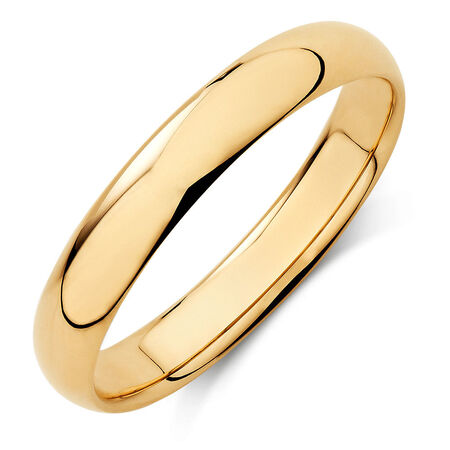 Wedding Band in 10kt Yellow Gold