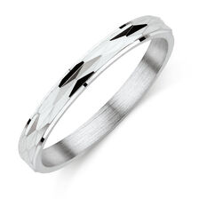 Cross Slash Ring in Sterling Silver