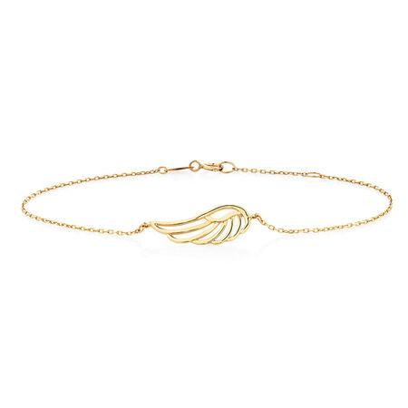 """19cm (7.5"""") Angel Wing Bracelet in 10kt Yellow Gold"""