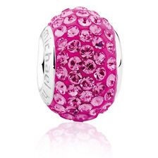 Hot Pink Crystal Charm