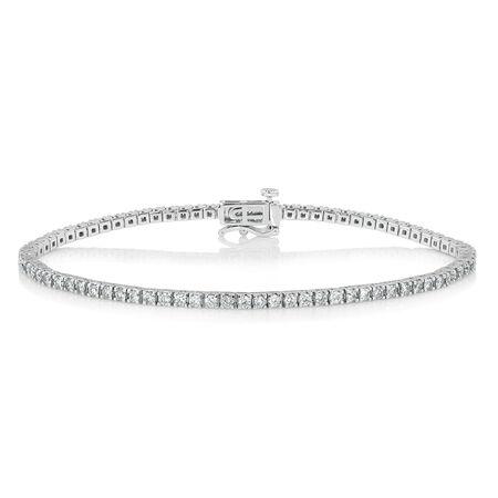 Tennis Bracelet with 2 Carat TW of Diamonds in 10kt White Gold