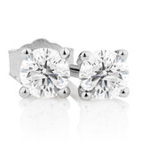Stud Earrings with 0.23 Carat TW of Diamonds in 10kt White Gold
