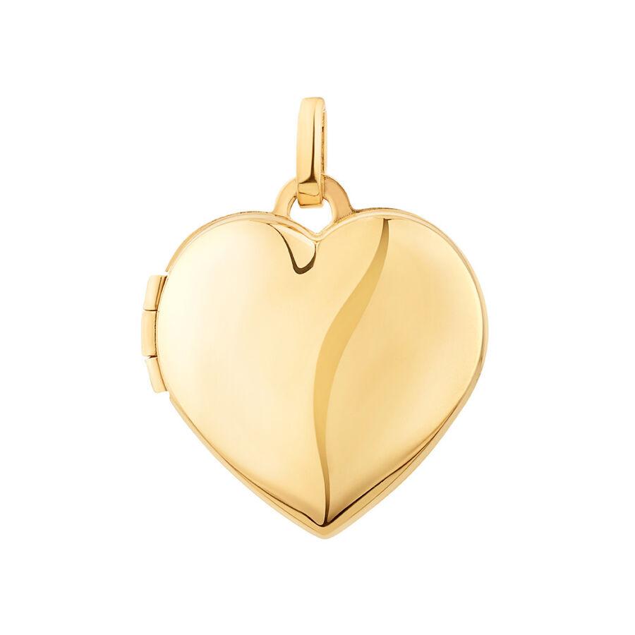 Heart Locket Pendant in 10kt Yellow Gold