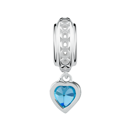Sterling Silver Cubic Zirconia December Charm