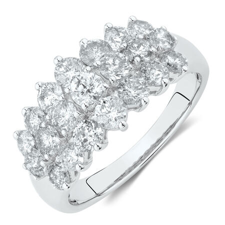 Ring with 2 Carat TW of Diamonds in 10kt White Gold