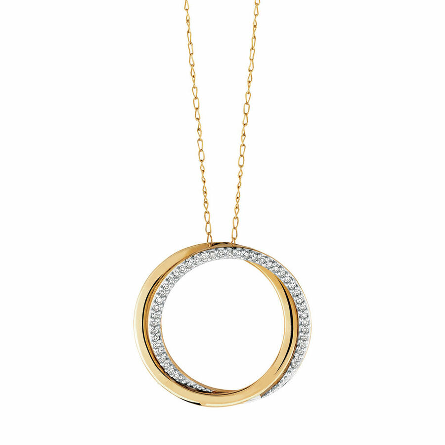 Pendant with Diamonds in 10kt Yellow Gold
