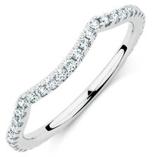 Sir Michael Hill Designer GrandAdagio Wedding Band with 0.35 Carat TW of Diamonds in 14kt White Gold