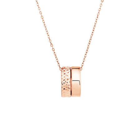 Double Round Pendants in 10kt Rose Gold