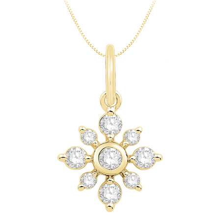 Pendant with 0.25 Carat TW of Diamonds in 10kt Yellow Gold