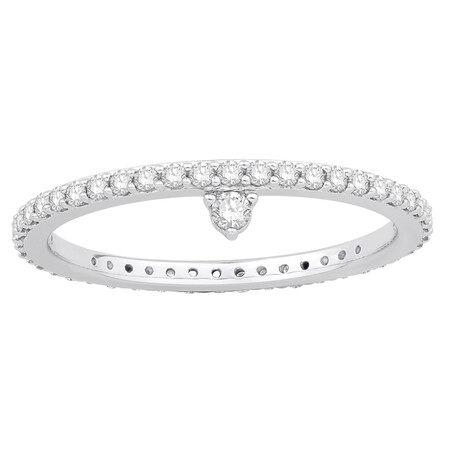 Tiara Ring with 0.43 Carat TW of Diamonds in Sterling Silver