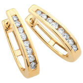 Huggie Earrings 0.50 Carat TW of Diamonds in 10kt Yellow Gold