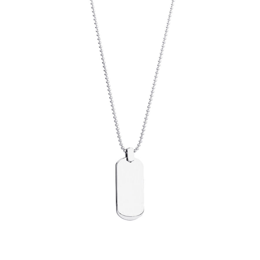 "55cm (22"") Dog Tag Pendant in Sterling Silver"