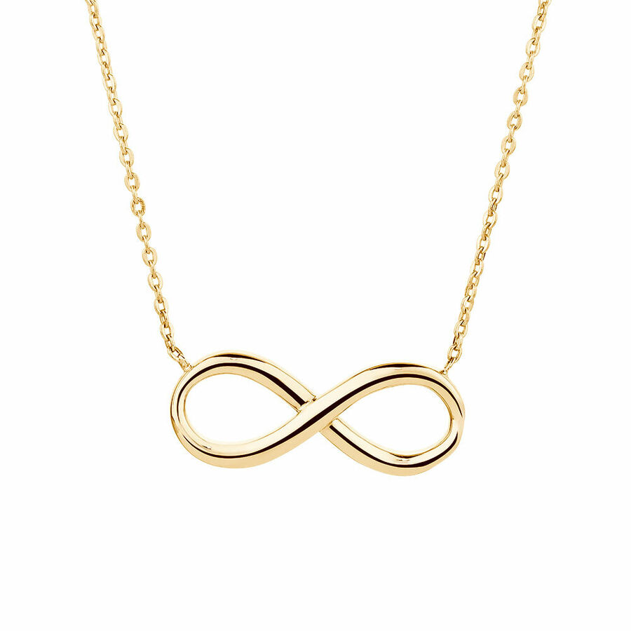 Infinity Necklace in 10kt Yellow Gold