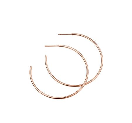 43mm Hoop Earrings In 10kt Rose Gold