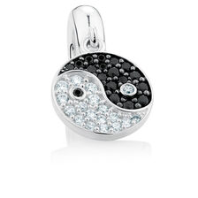 Cubic Zirconia & Sterling Silver Balance Dangle Charm