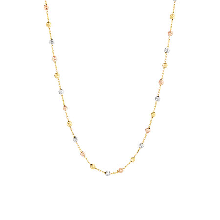 "45cm (18"") Fancy Chain in 10kt Yellow, Rose & White Gold"