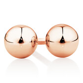 5mm Ball Stud Earrings in 10kt Rose Gold