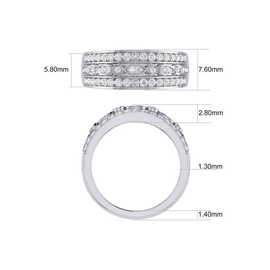 Fancy Ring with 0.50 Carat TW of Diamonds in 10kt White Gold