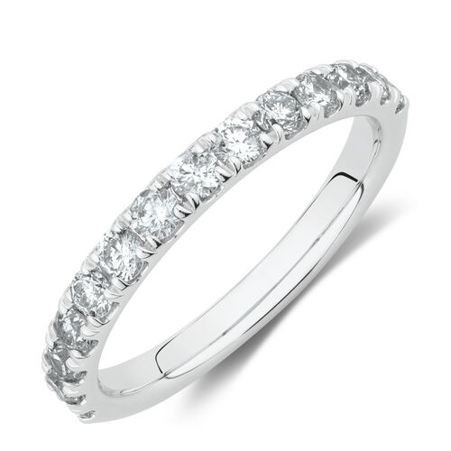 Evermore Wedding Band with 3/4 Carat TW Diamonds in 14kt White Gold