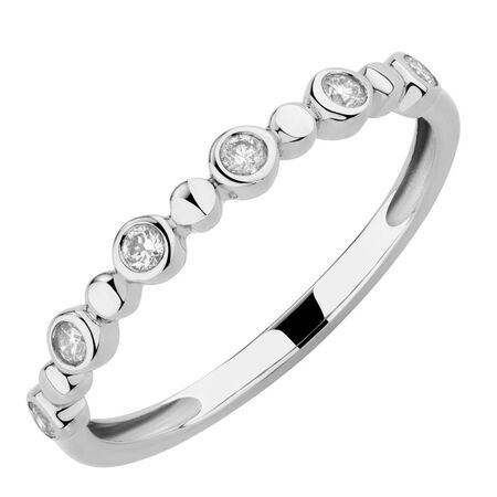 Bubble Ring with 0.12 Carat TW of Diamonds in 10kt White Gold