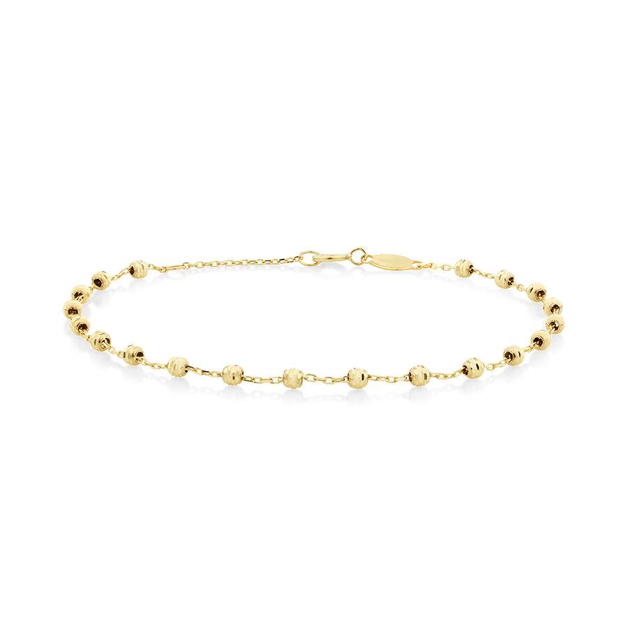 """19cm (7"""") Beaded Bracelet in 10kt yellow Gold"""