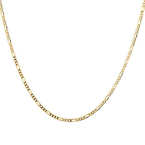 """60cm (24"""") Hollow Figaro Chain in 10kt Yellow Gold"""