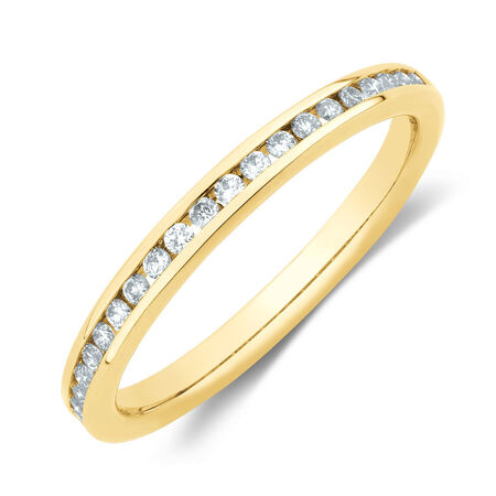 Wedding Band with 1/5 Carat TW of Diamonds in 14kt Yellow Gold