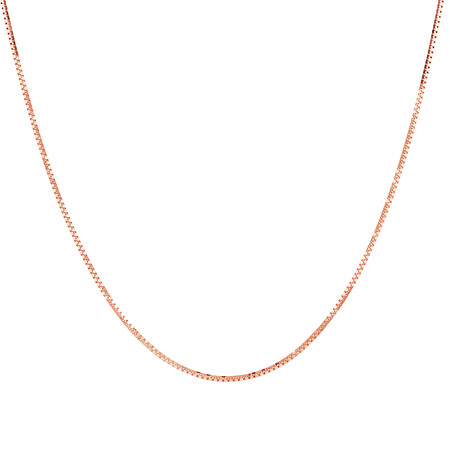 """50cm (20"""") Box Chain in 10kt Rose Gold"""