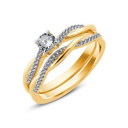 Bridal Set with 0.50 Carat TW of Diamonds in 10kt Yellow Gold