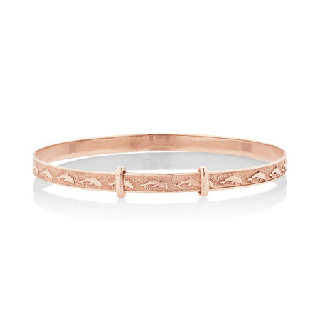 Expandable Baby Bangle in 10kt Rose Gold