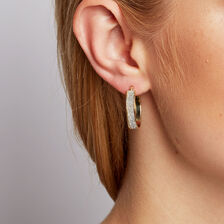 Stardust Hoop Earrings in 10kt Yellow Gold