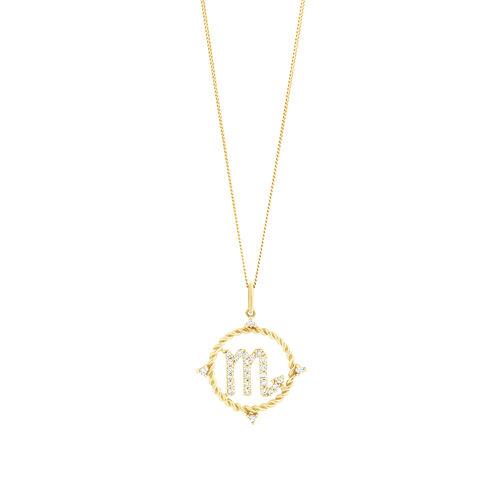 Scorpio Zodiac Pendant with 0.20 Carat TW of Diamonds in 10kt Yellow Gold