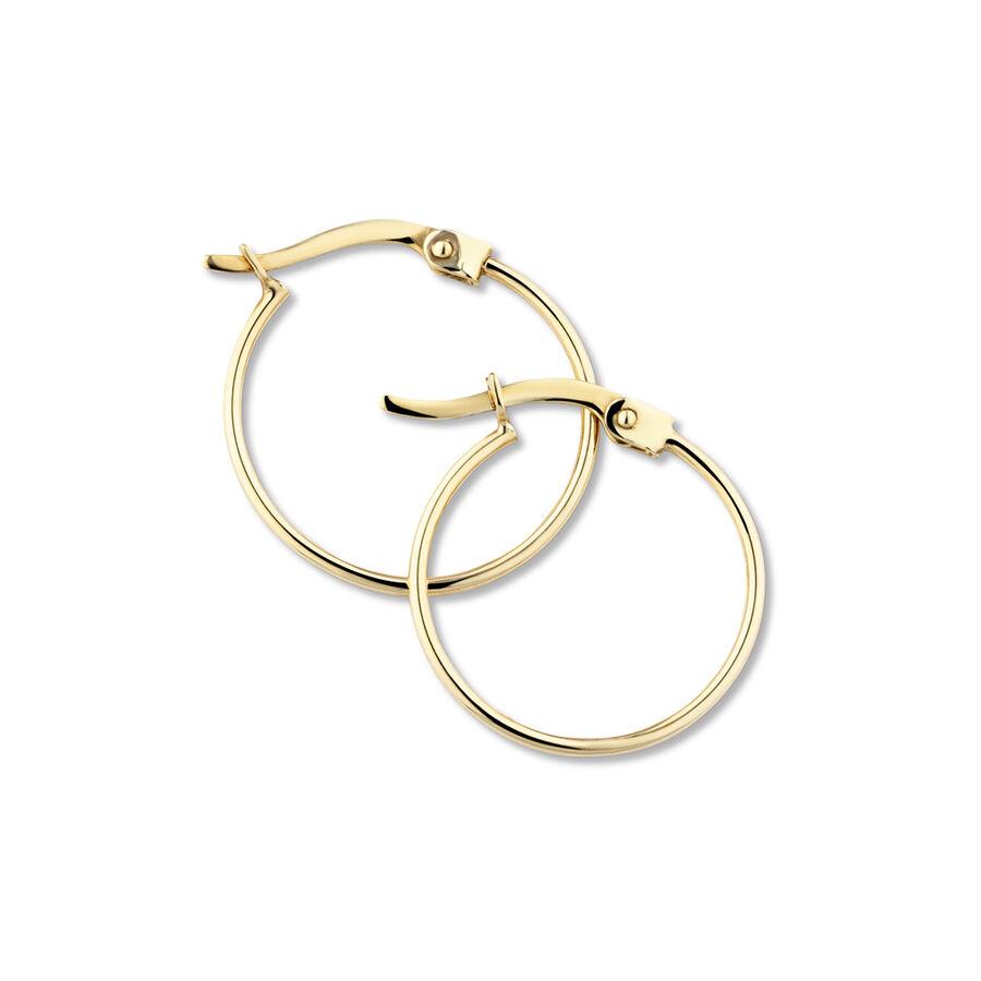 17mm Hoop Earrings in 10kt Yellow Gold