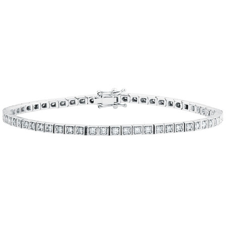 Tennis Bracelet with 1 Carat TW of Diamonds in 10kt White Gold