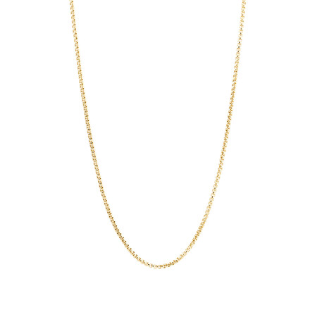 "60cm (24"") Box Chain in 14kt Yellow Gold"
