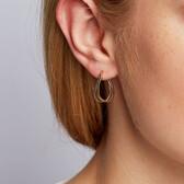 Huggie Earrings in 10kt Yellow & White Gold